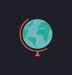 Globe computer symbol vector image