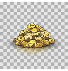Golden nuggets pile vector