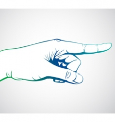 hand pointing vector image vector image
