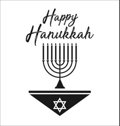 Happy hanukkah jewish holiday vector