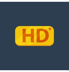 HD Flat icon vector image vector image
