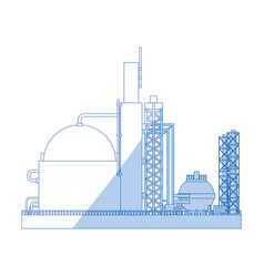 industrial plant machinery vector image