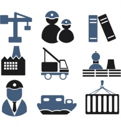 industry signs vector image vector image