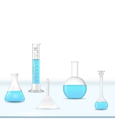 Lab glassware kit vector image