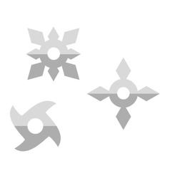 Ninja shuriken star weapon icon vector image