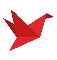 origami bird icon vector image