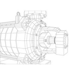 Pumping unit oil industry vector