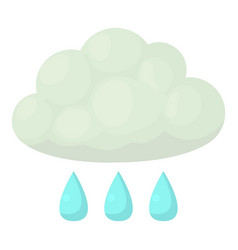 Rain icon cartoon style vector