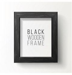 realistic photo frame on white wall from vector image vector image
