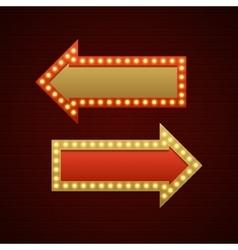 Retro Showtime Sign Design Arrows Cinema Signage vector image