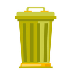 rubbish bin cartoon vector image
