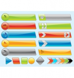 shiny internet buttons set 2 vector image