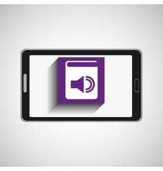 Smartphone technology e-book display sound vector