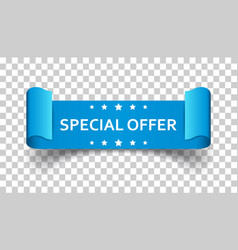 Special offer ribbon icon discount sale sticker vector