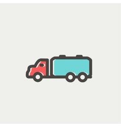 Truck liquid cargo thin line icon vector