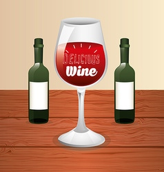 wine cup vector image vector image