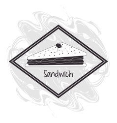 Sandwich frame bread lunch snack icon vector