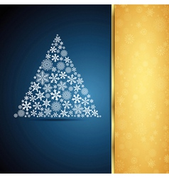 Christmas tree snowflake design background vector