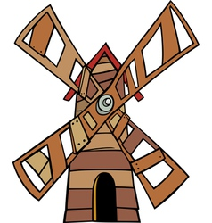 Windmill clip art cartoon vector