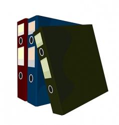 folders vector image