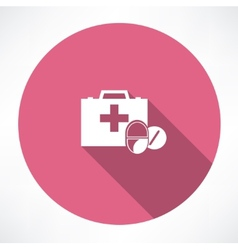 First aid kit box vector