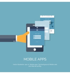 Mobile apps Programming and vector image