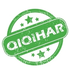 Qiqihar green stamp vector