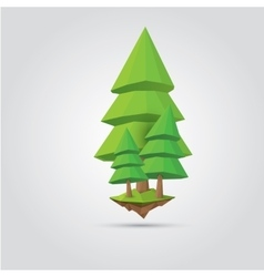 Conceptual polygonal tree vector