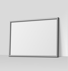 Dark gray horizontal frame for paintings vector