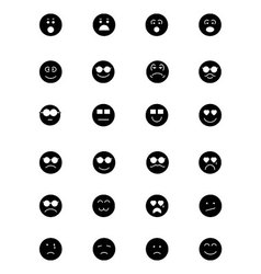 Smiley icons 3 vector
