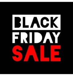 Black friday sale white - red icon on black vector