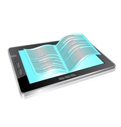 Tablet book vector