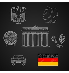 Germany national and travel icons vector