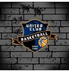 Sport basketball team logo college crest vector