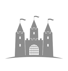 Antique castle abstract building on white vector