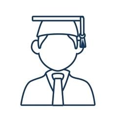 Student graduation male profile vector