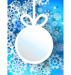 Abstract 3d bauble christmas background eps10 vector