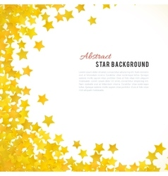 Abstract yellow star background vector