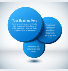 Blue 3D circle background vector image vector image
