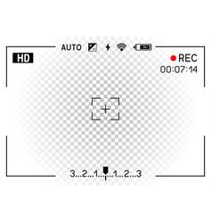Camera viewfinder transparent background vector