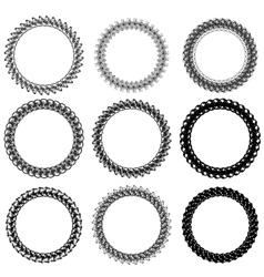 Circle Frames vector image vector image