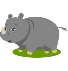 Cute Safari Rhino Isolated vector image vector image