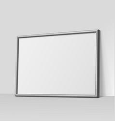 dark gray horizontal frame for paintings vector image