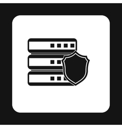 Data storage security icon simple style vector image vector image