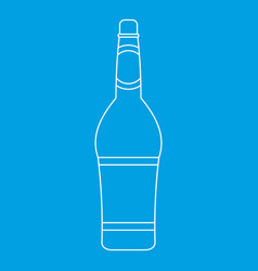 design bottle icon outline style vector image
