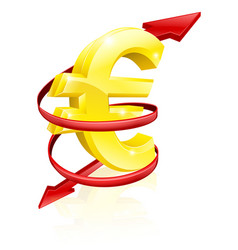 Euro exchange rate concept vector