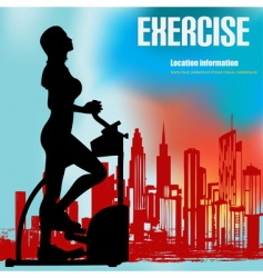 exercise flyer vector image