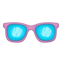 Glasses icon cartoon style vector