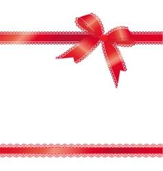 lace ribbon vector image
