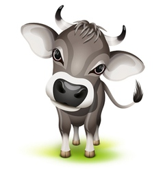 Little swiss cow vector image